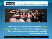 Party Photo Booth Los Angeles