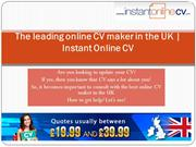 Instant Online CV: Leading Online CV Maker in UK