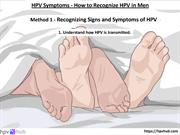 HPV Symptoms - How to Recognize HPV in Men