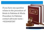 Procedure Of Khula In Pakistan 2019 - Professional Lawyer In Lahore
