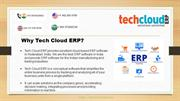 Tech Cloud ERP Software Company in India