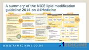 A summary of the NICE lipid modification guideline 2014 on A4Medicine