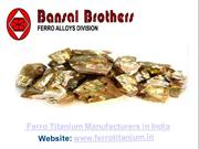 Ferro Alloys Suppliers in India | M/s Bansal Brothers