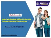 Swami Vivekanand Subharti University Distance Education Fees Structure