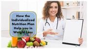 How the Individualized Nutrition Plan Help you in Weight Loss