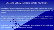 Choosing Lottery Numbers  What's Your Secret
