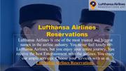 Book discounted tickets on Lufthansa Airlines Reservations