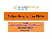 Airlines Reservations Flights