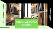 Walk In Wardrobes Designs For Your Home In Sydney