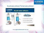 No-salt water softeners! The best water softeners!