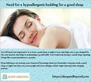 Need for a hypoallergenic bedding for a good sleep
