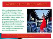 Best Services For Wedding Limousine Atlanta in Georgia