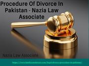 Procedure Of Divorce In Pakistan - Nazia Law Associate