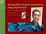 Raising Maori Student Achievement