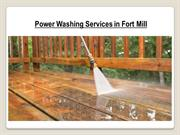 Hire Our Professionals For Power Washing Services in Fort Mill