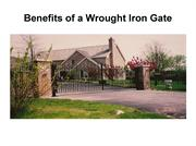 Benefits of a Wrought Iron Gate