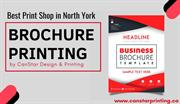 Brochure Printing Services by North York Print Shop