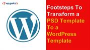 Footsteps To Transform a PSD Template To a WordPress Template-converte