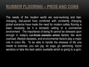 Rubber Flooring – Pros and Cons