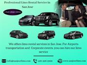 Professional Limo Rental Service in  San Jose