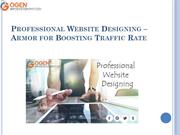 Professional Website Designing – Armor for Boosting Traffic Rate