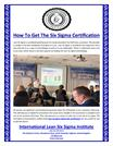 How To Get The Six Sigma Certification
