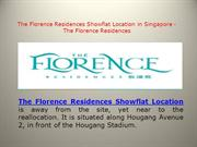 The Florence Residences Showflat Location in Singapore - The Florence