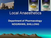 Local anaesthetics - drdhriti