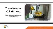 Transformer Oil Market Expected to Reach $3.4 Billion By 2020