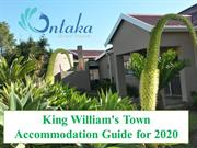 King William's Town Accommodation Guide for 2020