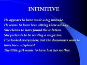 Gerund-Infinitive