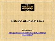 Best cigar subscription boxes