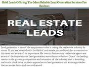 Bold Leads Offering The Most Reliable Lead Generation Services For Rea