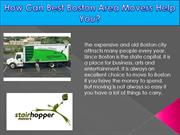 How Can Best Boston Area Movers Help You