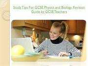 Study Tips For GCSE Physics Revision Guide by GCSE Teachers