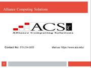 ACS is a leading provider of training in various courses