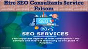 Hire SEO Consultants Service Folsom