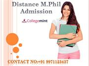 Distance M.Phil Admission :Top Universities For Distance M.Phil