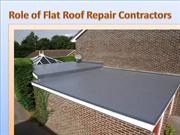 Role of Flat Roof Repair Contractors