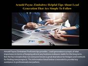 Arnold Payne Zimbabwe Helpful Tips About Lead Generation That Are Simp