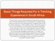 Basic Things Required For A Trekking Experience In South Africa