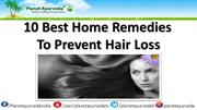 10 Best Home Remedies for hair loss
