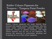 Get Rublev Colours Pigments for Tempera – Natural Pigments