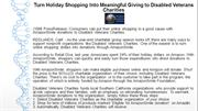 Turn Holiday Shopping Into Meaningful Giving to Disabled