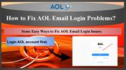 Full Guide to Fix AOL Email Login Problems