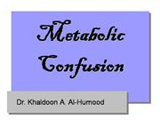 metabolic 20confusion
