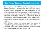 How To One Person Company Registration in India