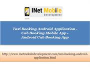 Cab Booking Mobile App - Android Cab Booking App