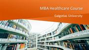 Contact MBA Healthcare Course with Galgotias University