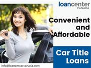 Acquire Car Title Loans in Sudbury at lowest interest